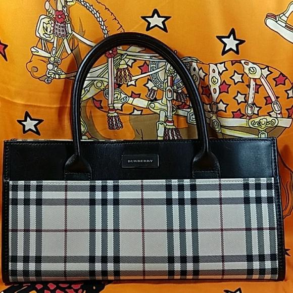 Burberry Handbags - Authentic Burberry Novacheck Satchel. 154bf4de10a76